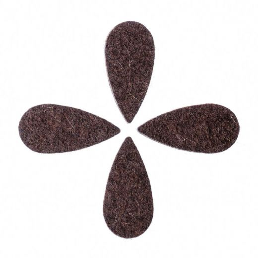 Felt Tones Teardrop Brown Wool Felt 4 Picks